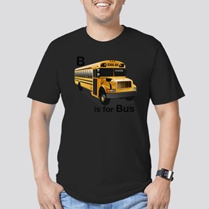 B_is_Bus Men's Fitted T-Shirt (dark)