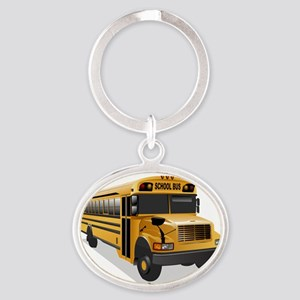 B_is_Bus Oval Keychain