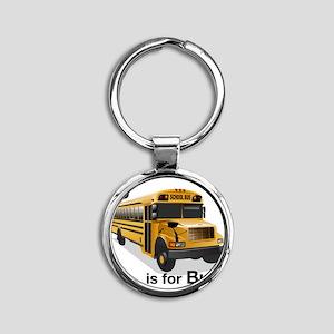 B_is_Bus Round Keychain