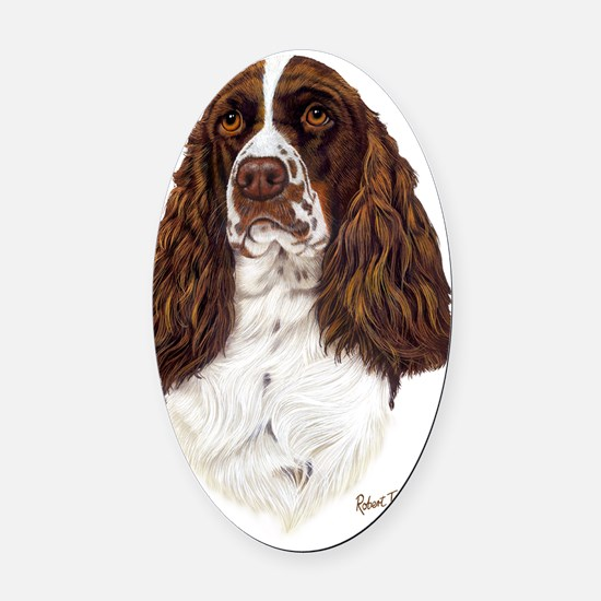 Eng Springer liver Oval Car Magnet