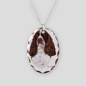 Eng Springer liver Necklace Oval Charm