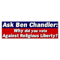 Ask Ben Chandler Bumper Bumper Sticker