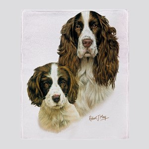 Eng Springer  Pup Throw Blanket