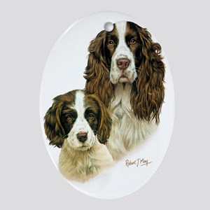 Eng Springer  Pup Oval Ornament