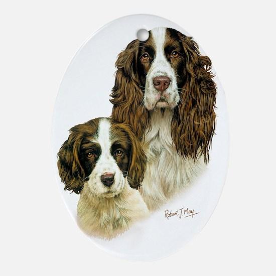 Eng Springer  Pup Oval Ornament