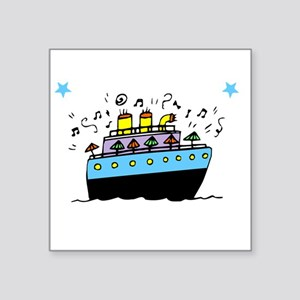 "Love Cruising -dk Square Sticker 3"" x 3"""
