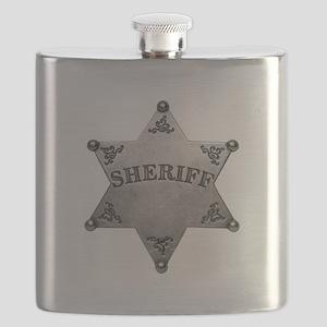 Sheriff Badge Flask