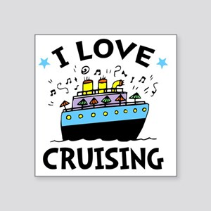 "Love Cruising Square Sticker 3"" x 3"""