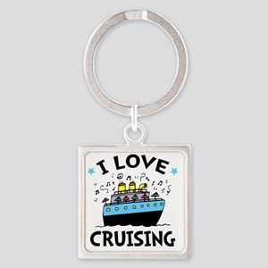 Love Cruising Square Keychain
