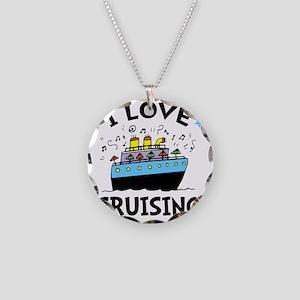Love Cruising Necklace Circle Charm