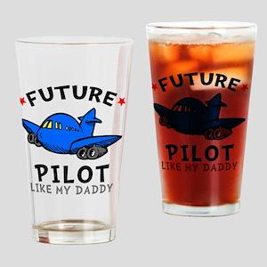 Pilot Daddy Drinking Glass