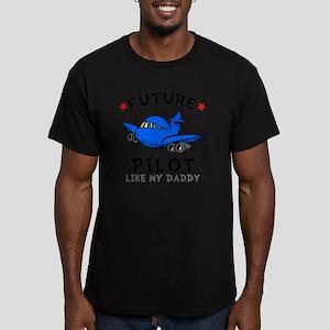 Pilot Daddy Men's Fitted T-Shirt (dark)