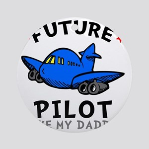 Pilot Daddy Round Ornament