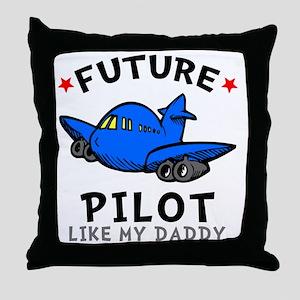 Pilot Daddy Throw Pillow
