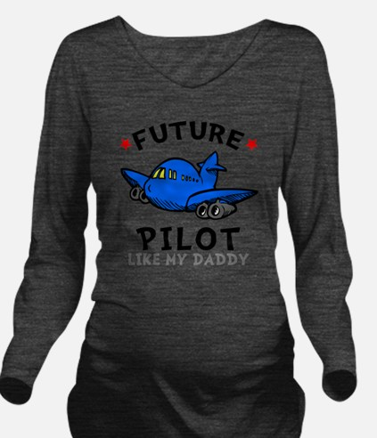 Pilot Daddy Long Sleeve Maternity T-Shirt