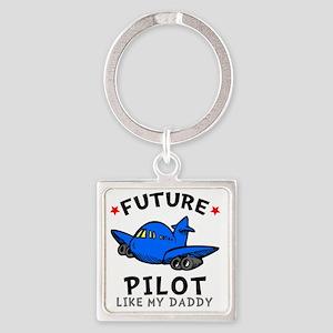 Pilot Daddy Square Keychain