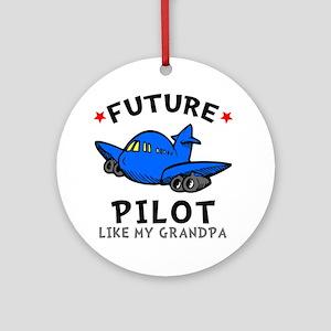 Pilot Grandpa Round Ornament