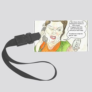 This is the kindergarten teacher Large Luggage Tag