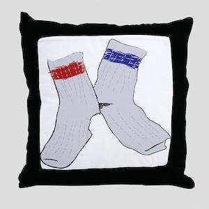 Holey socks centered Throw Pillow