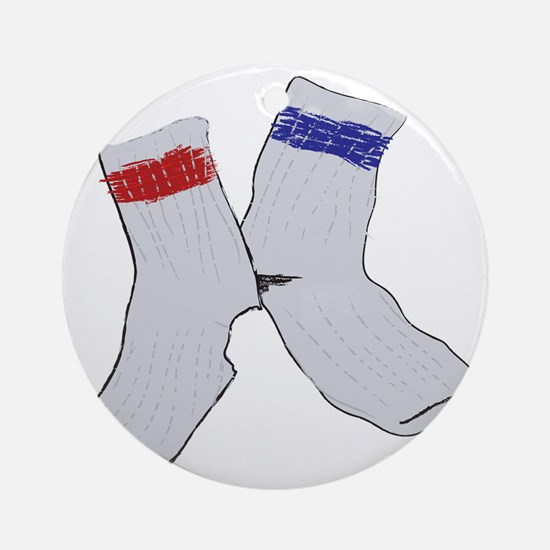 Holey socks centered Round Ornament