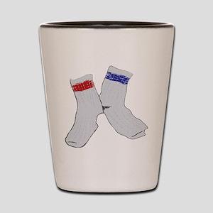 Holey socks centered Shot Glass