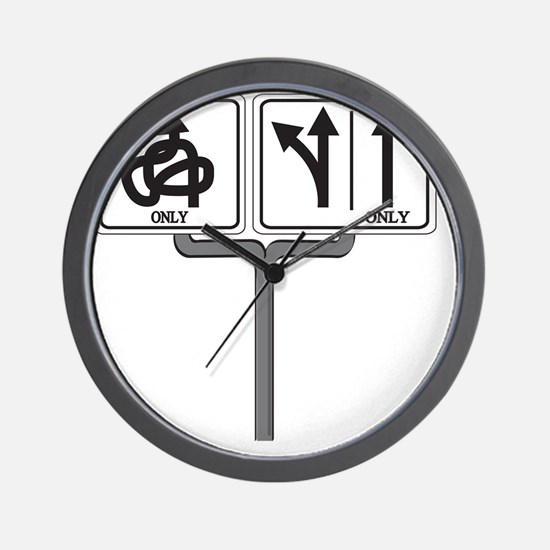Which way 10x10 Wall Clock