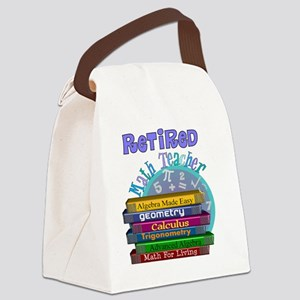 Retired Math Teacher Blue 2011 Canvas Lunch Bag