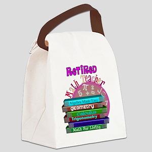 Retired Math Teacher PINK 2011 Canvas Lunch Bag
