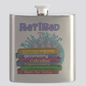Retired Math Teacher Blue 2011 Flask