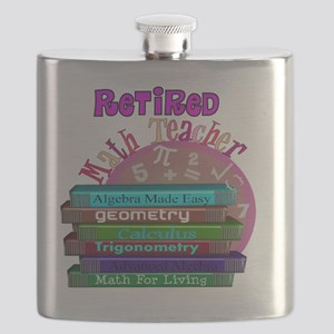 Retired Math Teacher PINK 2011 Flask