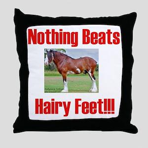 hairykidst Throw Pillow