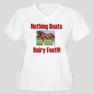 hairykidst Women's Plus Size V-Neck T-Shirt