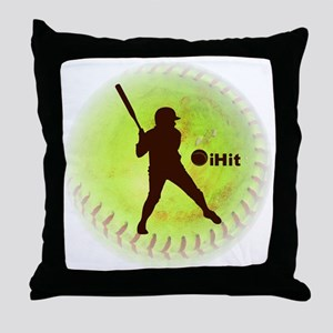 iHit Fastpitch Softball (right handed Throw Pillow