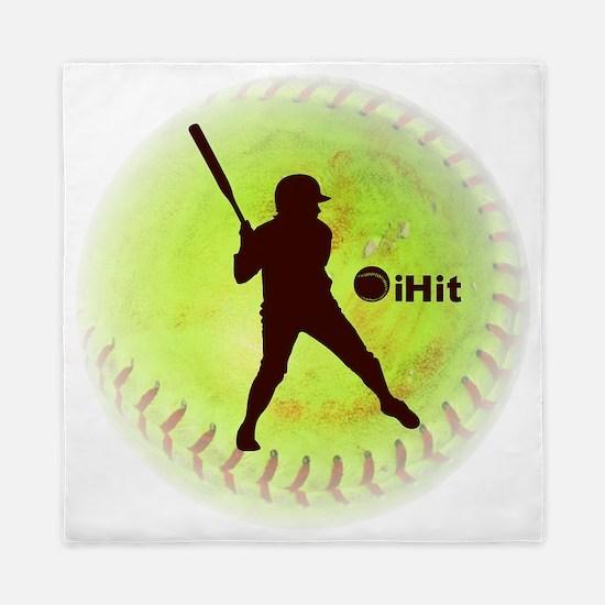 iHit Fastpitch Softball (right handed) Queen Duvet