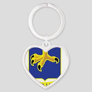 502nd Parachute Infantry Regiment Heart Keychain