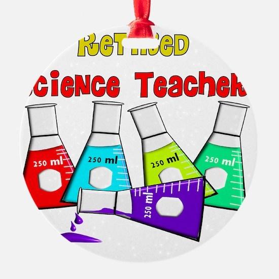 retired science teacher 3 2011 Ornament