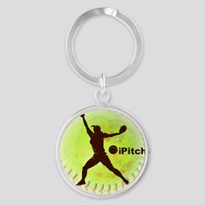 iPitch Fastpitch Softball (right ha Round Keychain