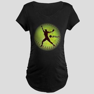 iPitch Fastpitch Softball ( Maternity Dark T-Shirt