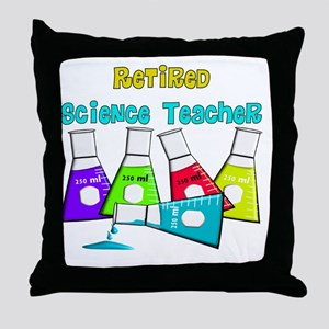 Retired Science Teacher Beekers 2011  Throw Pillow