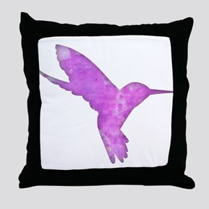 Hummingbird Art Throw Pillow