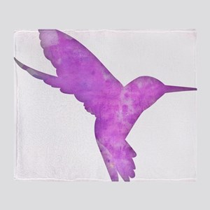 Hummingbird Art Throw Blanket