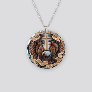 CB12 WE RIDE EAGLE Necklace Circle Charm