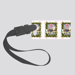 flowercarouselwide Small Luggage Tag