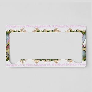 flowercarouselwide License Plate Holder