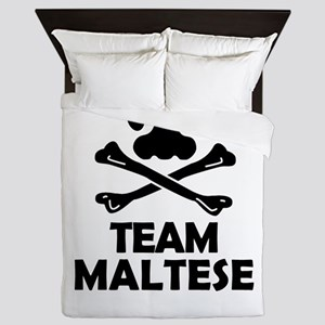 Team Maltese Queen Duvet