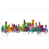 Chicago skyline Framed Prints