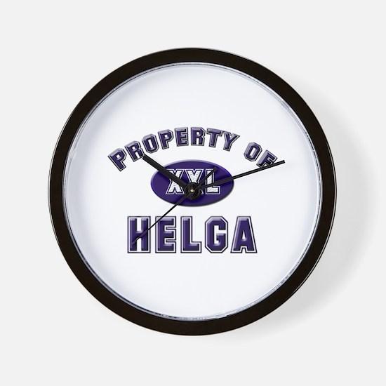 Property of helga Wall Clock
