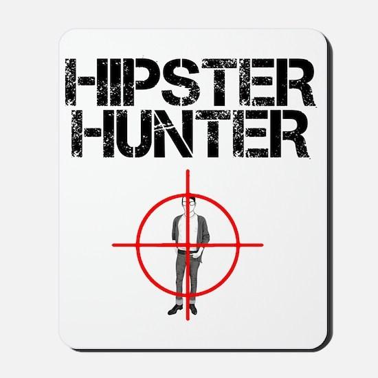 hipster hunter-black Mousepad