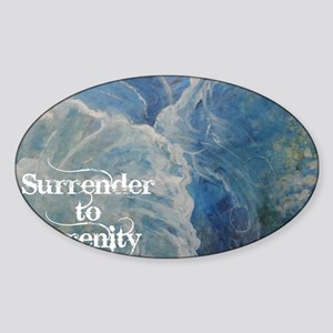 surrender2serenity2_poster Sticker (Oval)