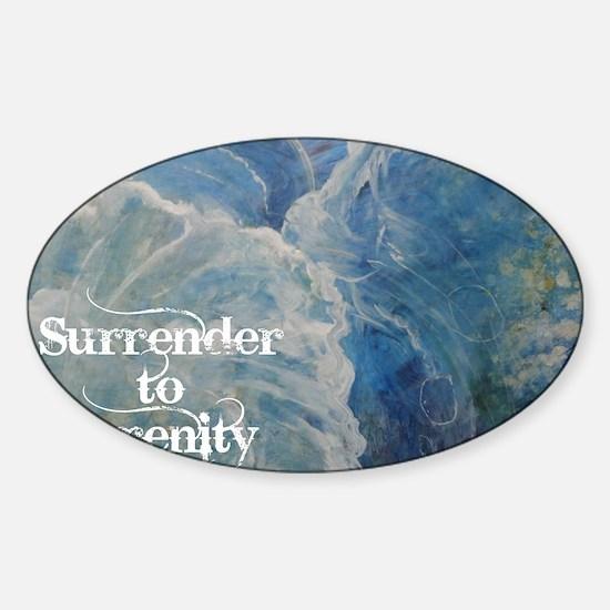 surrender2serenity2_poster Sticker (Oval)